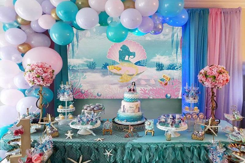 """Mang nàng tiên cá """"Little Mermaid"""" từ biển cả về cho bé khi tổ chức tiệc thôi nôi"""